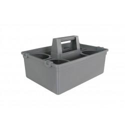 意大利施达 CB 02 手挽篮连2个樽隔 手挽式塑料杂物篮 家居清洁物业保洁工具收纳储物篮