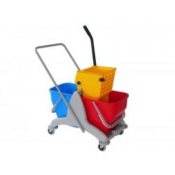 意大利施达 DB H50 侧压式双桶共30L榨水车 拖把桶挤水桶 带塑料车架拖地桶