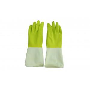 意大利施达 RG 8380M/GW 宜家胶手套 耐用防滑橡胶手套 绿白色 中码
