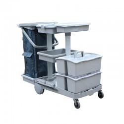 意大利施达 JT 152 酒店医院商场保洁 平拖型清洁服务车 手推车(配双手挽桶)