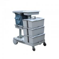 施達 平拖型清潔服務車 配三個手挽桶