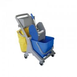 意大利施达 JT D25 配垃圾袋 25L单桶榨水车 排拖地拖带轮挤水桶 保洁车
