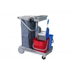 意大利施达 JT 130 轻巧型双水榨桶清洁服务车 手推车 保洁车