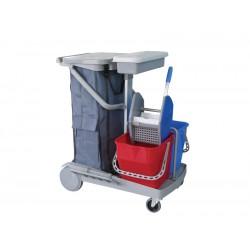 施達 輕巧型雙桶榨水清潔服務車 配120L尼龍袋