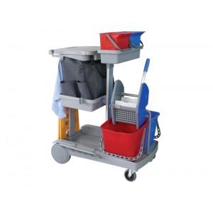 施達 輕巧型雙桶榨水清潔服務車 配兩個6L小水桶