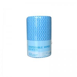 意大利施达 NW 0451523/BW 经济易洁布 一次性平拖布抹布 吸水不掉毛无纺布清洁擦布 蓝白色