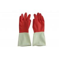 施達 家用橡膠手套 紅白色 中碼