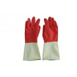 意大利施达 RG 8380M/RW 宜家胶手套 耐用防滑橡胶手套 红白色 中码